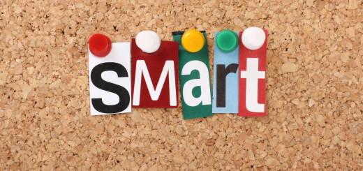 The word Smart in magazine letters on a notice board